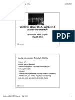 Windows Server 2012 Win 8 Audit Fundamentals
