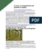 Composición (III) La Importancia de Las Líneas [AHMF31 Día26]
