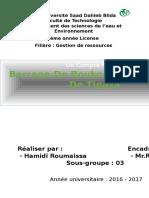 Resumé de barrage Boukourdane