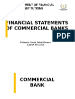 Chap I Financial Statements of Commercial Banks