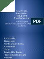Easy Mysql Replication Setup and Troubleshooting