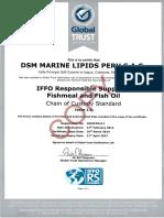 Dsm Marine Lipids Peru Certificate