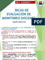 Rubricas de Evaluacion de Monitoreo Docente