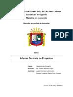 Informe de Gerencia de Proyectos UNAP