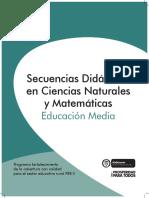Secuencias Didácticas en Ciencias Naturales y Matemáticas Educación Media