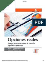Opciones Reales - Inversión Bajo Alta Incertidumbre - Hernan Contreras Andreoli