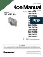 Panasonic Lx7 Service Manual