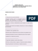 Agenda Legislativa - Diputados