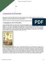 Tarot Histórico a Linguagem Do Tarô de Marselha