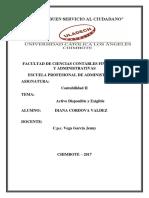 Activo Disponible y Exigible - Grupo Conta II