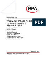 RPA New Gold El Morro NI43 101 Report FINAL 2012-03-26
