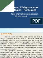 Texto Informativo Carta Pessoal, E-mail.