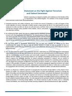 La déclaration du G7 sur la lutte contre le terrorisme et l'extrémisme violent