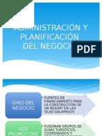 Administracion y Planificacion Del Negocio