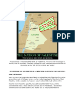 Proposal-creation of a Palestinian State with End of the 100 yrs. old armed conflict with Arabs