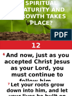 How Does Spiritual Maturity and Growth Takes Place.by Pastora Esther 05212017