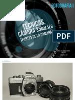 Partes de la cámara réflex manual