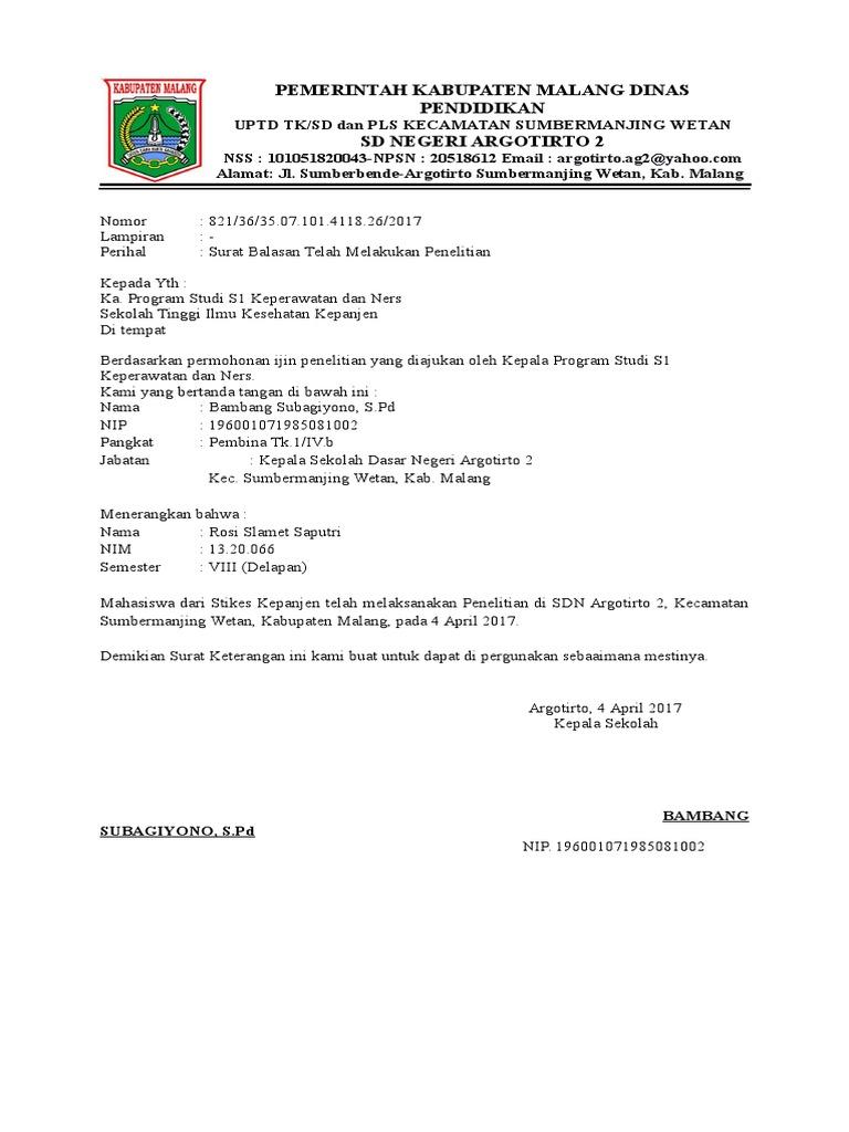 Surat Balasan Ag 2