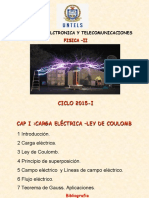 CAP I II CARGA ELECTRICA  CAMPO ELECTRICO.ppt