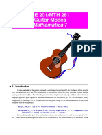 Guitar Mathematics Info