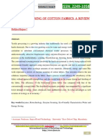 [19] K.mojsov, Enzyme Scouring of Cotton Fabrics a Review,IJMT, Vol.2(9)2012, Pp.256-275