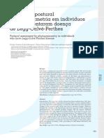 Doenca de Legg Calve Perthes Avaliacao Postural