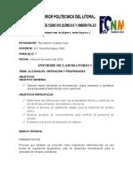Informe 8 - Lab de Quimica Organica