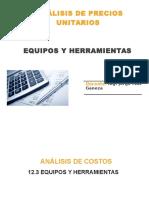 Analisis de Precios Unitarios Equipos y (1)