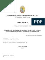 Informe de  diseño de Pavimento  flexible