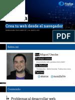 Contruyendo La Web Desde Tu Navegador - Maracaibo Tech Meetup