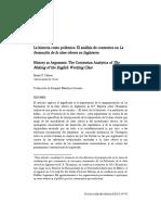 Palmer, B., La historia como polémica. El análisis de contrarios en La formación de la clase obrera en Inglaterra..pdf