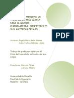 Principales Medidas de Producción Más Limpia Para El Sector Chocolatería, Confitería y Sus Materias Primas