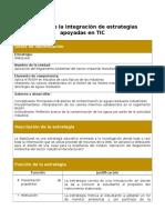 analisis de la integracion de estrategias apoyadas en tic