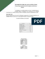 Memoria Descriptiva Lotizacion 2009
