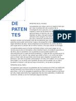 Patentes en El Mundo 1