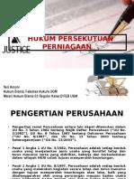 Hukum Bentuk Perusahaan Non Badan Hukum (Partnership, Firma, Dan CV)