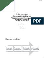 Clase 6. Intervención en Fonología