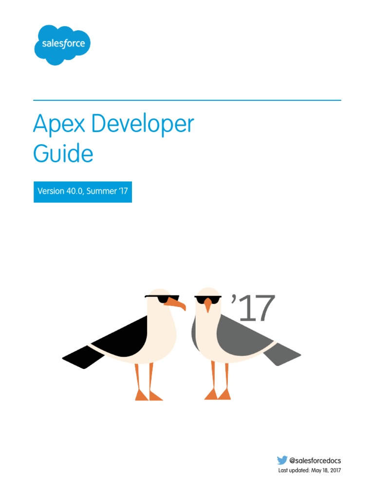 Salesforce Apex Language Reference | Salesforce.Com | Application ...