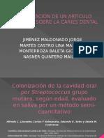 Colonización de La Cavidad Oral Por Streptococcus