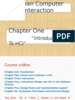Human Computer Interaction Introduction