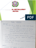 Physical Metallurgy NOTES