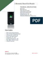 ESSL F12 Fingerprint Based Exit Reader-Securekart