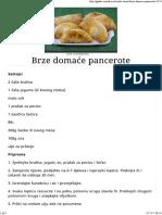 Brze Domaće Pancerote - Gastro Priče - Gastro