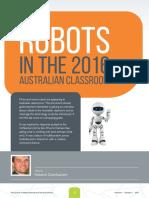 robots in the 2016 australian classroom