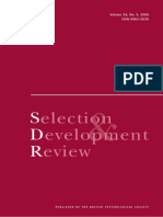 Selection and Development Review