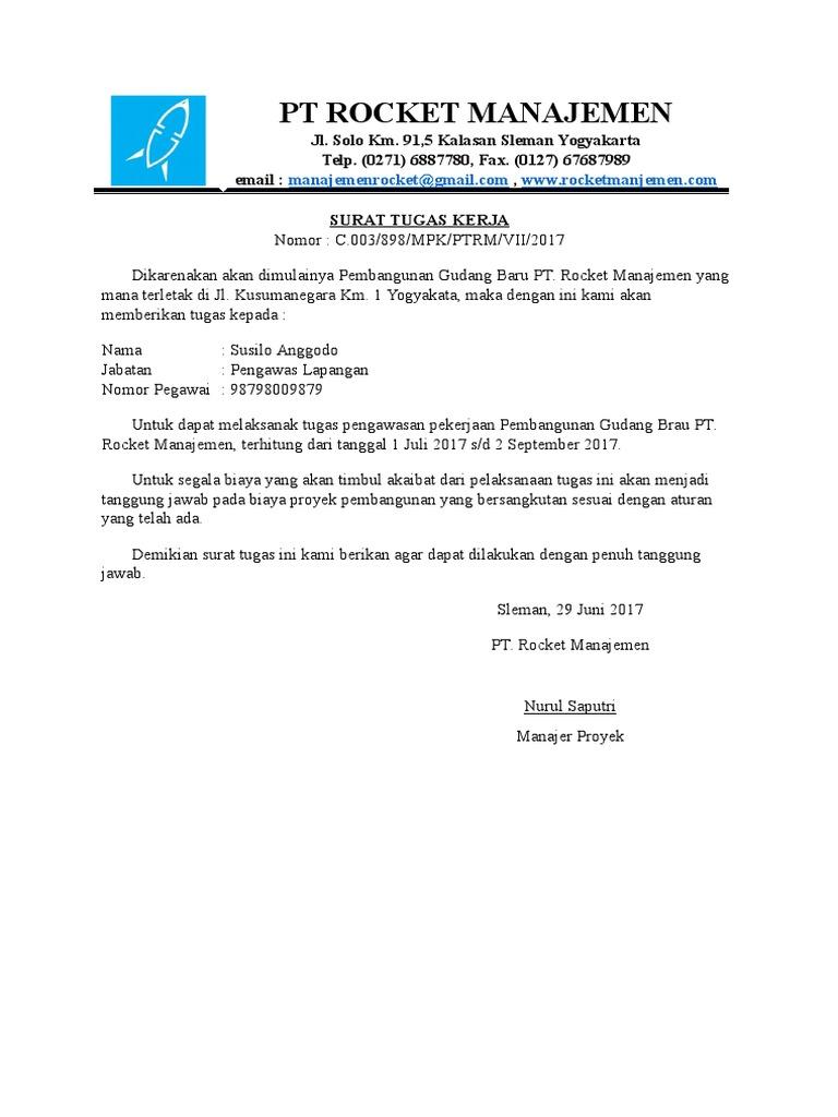 Contoh Surat Tugas Kerjadocx