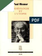 Paul Ricoeur. L'idéologie et l'utopie.