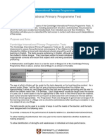 Primary Test Documentation