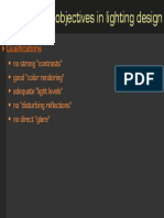 Key Objectives in Lightingdesign