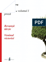 Revansa Tarzie si Veninul Victoriei - Volumul 1 Scrieri - Ion Bucheru
